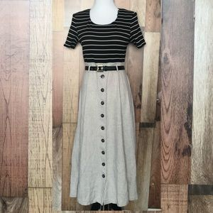Dresses & Skirts - Vintage striped Maxi dress Sz Medium
